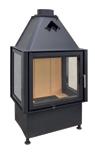 kamineinsatz mit 3 sichtscheiben 3 seitig glas u scheibe. Black Bedroom Furniture Sets. Home Design Ideas