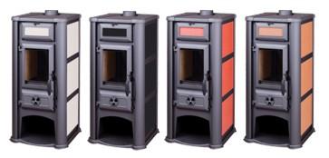 kaminofen kamin ofen holzofen kachelverkleidung wei 6 11 kw sofort lieferbar ebay. Black Bedroom Furniture Sets. Home Design Ideas