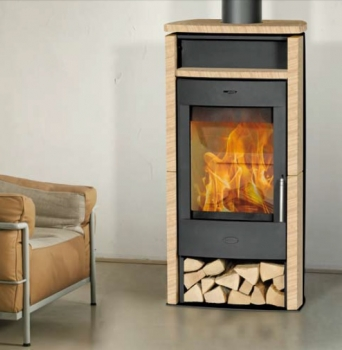 kaminofen fireplace santiago sandstein schwarz 6 kw. Black Bedroom Furniture Sets. Home Design Ideas