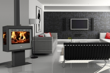kaminofen mit 3 scheiben prity pm3l 13 kw. Black Bedroom Furniture Sets. Home Design Ideas