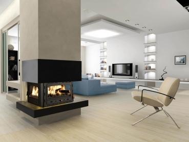 3 scheiben kamineinsatz heizeinsatz prity 3c 13 kw. Black Bedroom Furniture Sets. Home Design Ideas