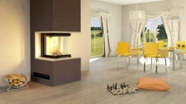3 scheiben kaminbausatz pure mit hajduk smart 3plh 7 5 kw. Black Bedroom Furniture Sets. Home Design Ideas