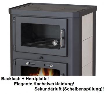 kaminofen mit backfach herdplatte victoria comfort kf. Black Bedroom Furniture Sets. Home Design Ideas