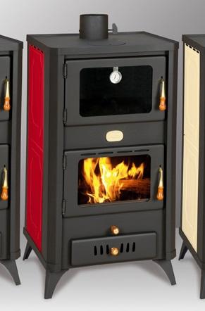 wasserf hrender kaminofen mit backfach prity fg w18r rot 20 kw. Black Bedroom Furniture Sets. Home Design Ideas