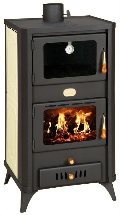 wasserf hrender kaminofen mit backfach prity fg w18r creme 20 kw. Black Bedroom Furniture Sets. Home Design Ideas