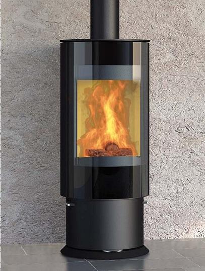 drehbarer kaminofen k nigsh tte virgo mit glasfront 5kw. Black Bedroom Furniture Sets. Home Design Ideas