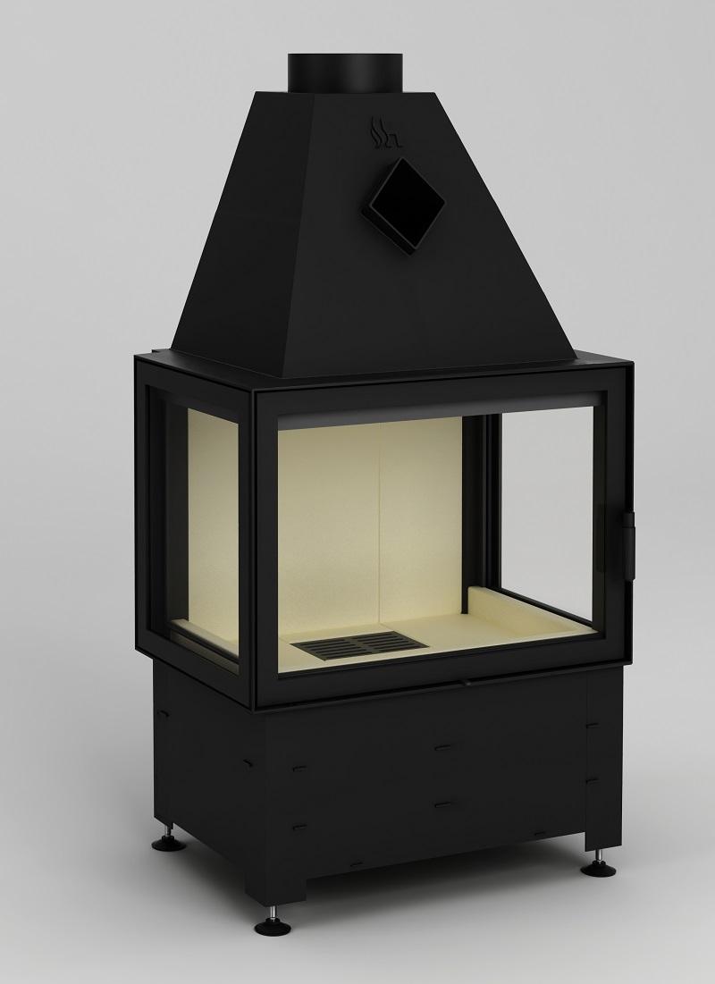 3 scheiben kamineinsatz hajduk volcano 3pl 11 kw. Black Bedroom Furniture Sets. Home Design Ideas
