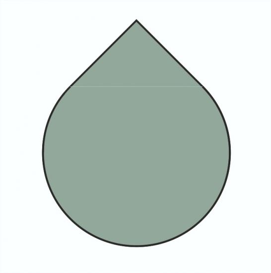 b ware tropfen 110cm grau metall funkenschutzplatte kaminbodenplatte kaminof ebay. Black Bedroom Furniture Sets. Home Design Ideas
