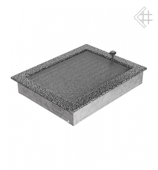 kamin l ftungsgitter 22x30cm schwarz silber mit lamellen. Black Bedroom Furniture Sets. Home Design Ideas