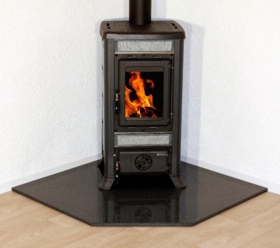 kaminofen pelletofen bodenplatte funkenschutzplatte f nfeck echter granit ebay. Black Bedroom Furniture Sets. Home Design Ideas