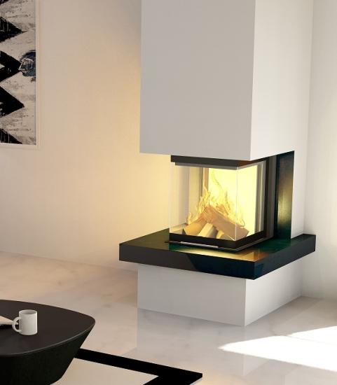 3 scheiben kaminbausatz royal mit hajduk smart 3plh 7 5 kw. Black Bedroom Furniture Sets. Home Design Ideas