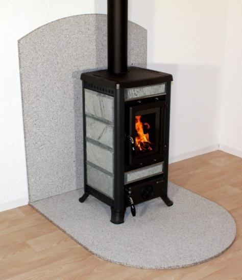 pelletofen kaminofen kamin unterlage bodenplatte funkenschutz speckstein optik ebay. Black Bedroom Furniture Sets. Home Design Ideas