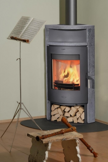 eck kaminofen fireplace samba speckstein 6 kw ebay. Black Bedroom Furniture Sets. Home Design Ideas