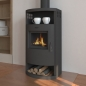 Mobile Preview: EEK A Kaminofen für Holz+Kohlefeuerung,  gussgrau – 6,6kW