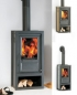 Mobile Preview: EEK A+ - Kaminofen Globe Fire LUNA II L Naturstein - 6 kW