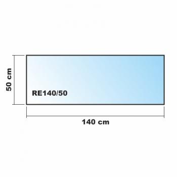 Frosty 140x50cm glas k chenr ckwand spritzschutz herd for Glasplatte als spritzschutz