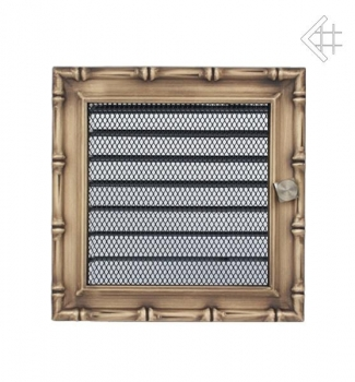 retro l ftungsgitter 17x17cm altgold mit lamellen. Black Bedroom Furniture Sets. Home Design Ideas