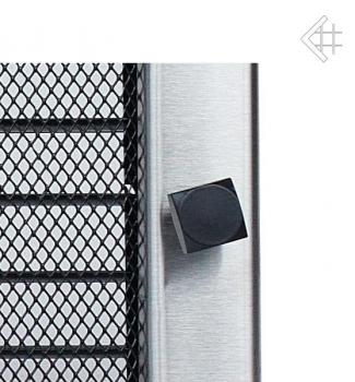 luxus l ftungsgitter 17x37cm edelstahl geb rstet mit lamellen. Black Bedroom Furniture Sets. Home Design Ideas