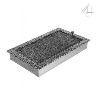 kamin l ftungsgitter 22x37cm schwarz silber mit lamellen. Black Bedroom Furniture Sets. Home Design Ideas