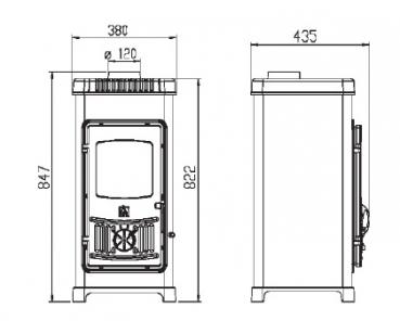 eek a kaminofen plamen dora 8n mit herdplatte schwarz 6kw. Black Bedroom Furniture Sets. Home Design Ideas