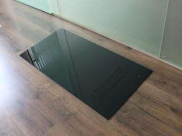 saisonplatte rechteck 90x60cm glas schwarz kamin. Black Bedroom Furniture Sets. Home Design Ideas