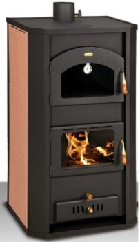 eek a wasserf hrender kaminofen mit backfach prity fgw15 rot 19 kw. Black Bedroom Furniture Sets. Home Design Ideas
