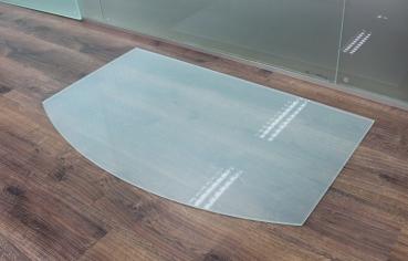 segmentbogen frosty 100x60cm funkenschutzplatte milchglas kaminbodenplatte glasplatte. Black Bedroom Furniture Sets. Home Design Ideas