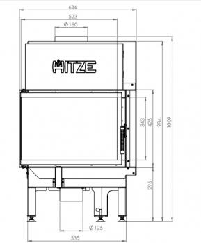 eek a eck kamineinsatz hitze albero al9l h mit seitenglas links 9kw. Black Bedroom Furniture Sets. Home Design Ideas
