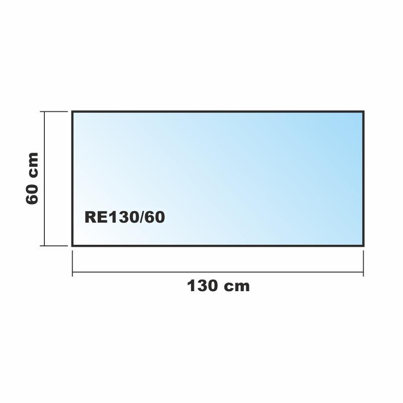 130x60cm glas k chenr ckwand spritzschutz herd for Herd spritzschutz milchglas