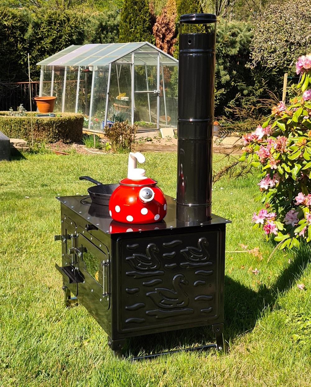 Outdoor Kuchenofen Garten Kamin Gartenkuche Rosalie Pizzaofen Zeltofen Gulaschkanone Terrassenofen