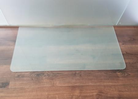Rechteck frosty 100x50cm abgerundet milchglas for Spritzschutz milchglas