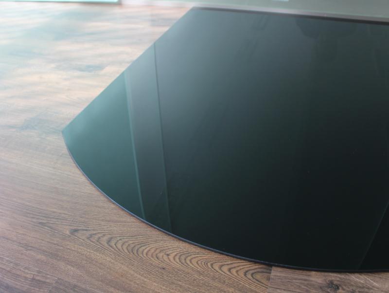segmentbogen 100x120cm glas schwarz funkenschutzplatte kaminbodenplatte glasplatte unterlage kamin. Black Bedroom Furniture Sets. Home Design Ideas