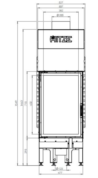 eek a kamineinsatz hitze albero al14s v extra hohe sichtscheibe 14kw. Black Bedroom Furniture Sets. Home Design Ideas