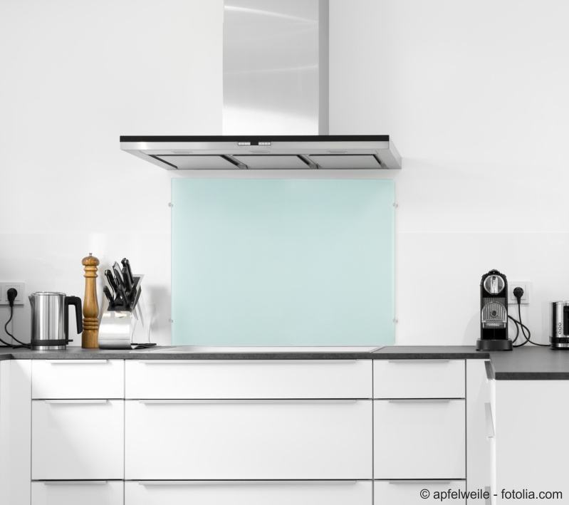 *Frosty* 140x50cm - Glas-Küchenrückwand Spritzschutz Herd Fliesenspiegel  Glasplatte Rückwand
