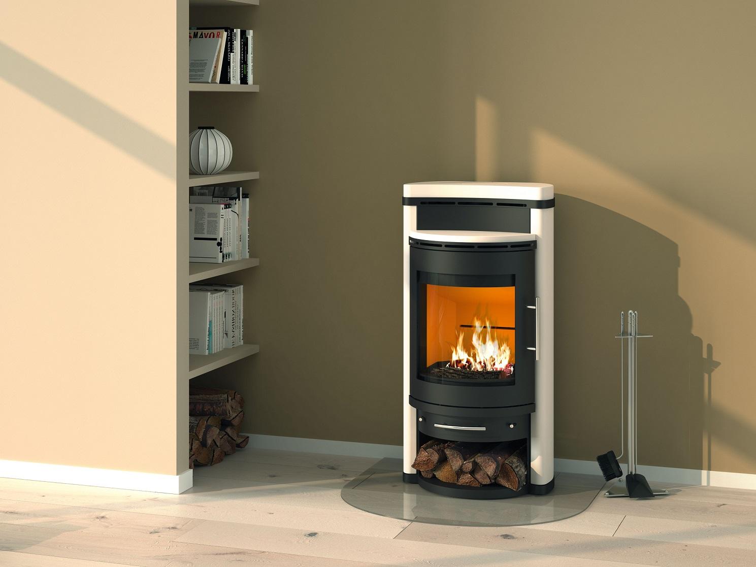 kaminofen k nigsh tte corvus keramik vanilla 6kw. Black Bedroom Furniture Sets. Home Design Ideas