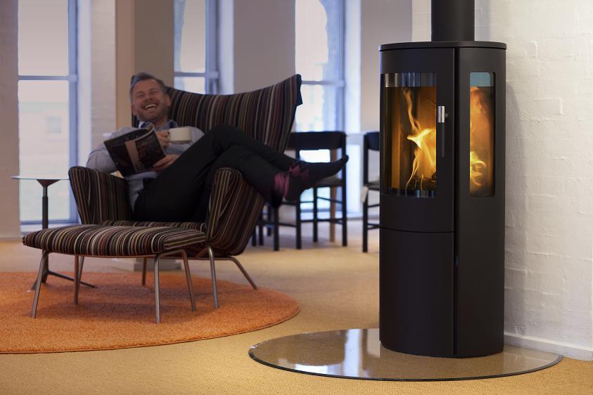 eek a kaminofen lotus mira 4 schwarz 3 scheiben 5 kw. Black Bedroom Furniture Sets. Home Design Ideas