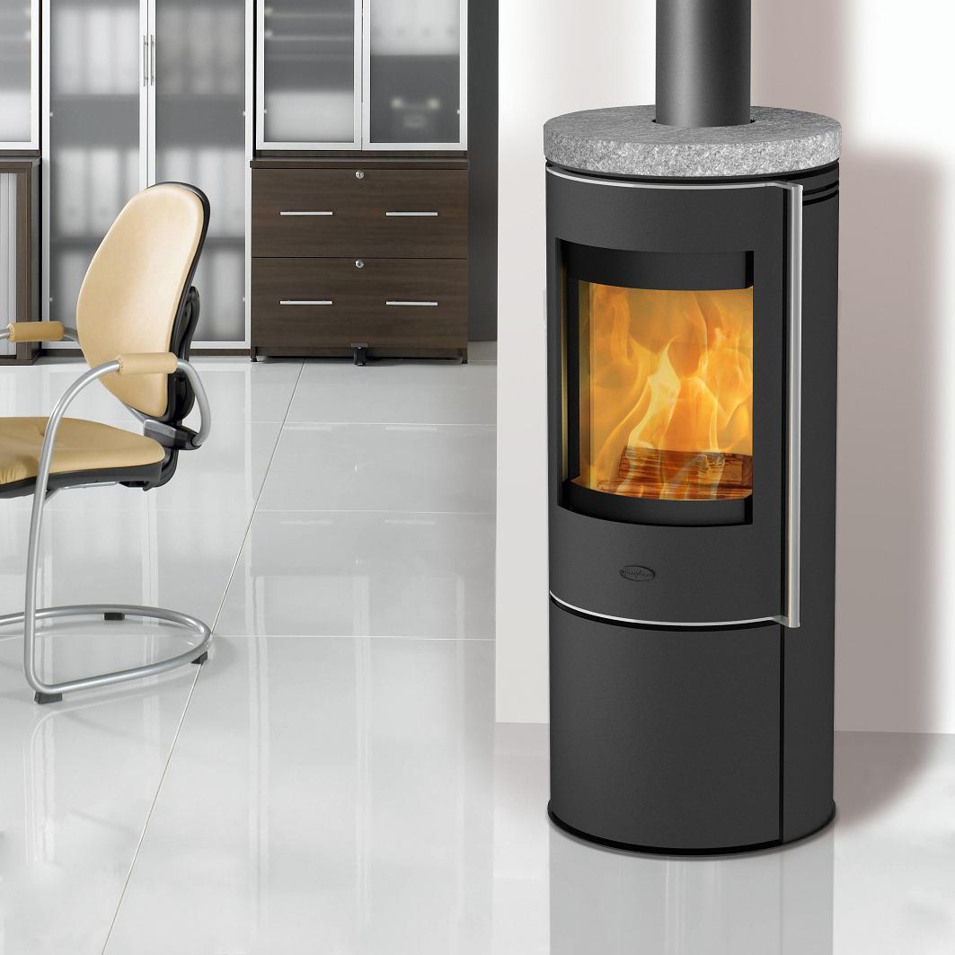 eek a kaminofen fireplace orando speckstein schwarz 5 kw. Black Bedroom Furniture Sets. Home Design Ideas