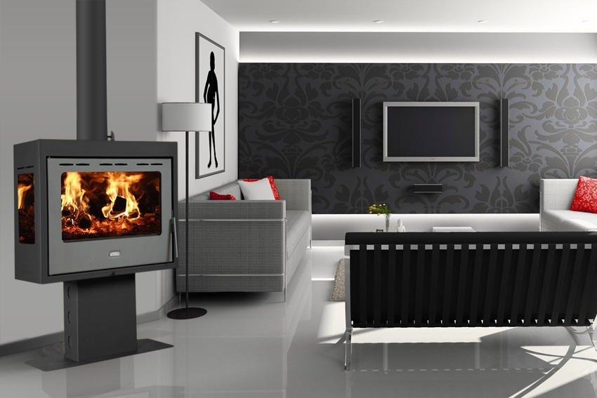 eek a kaminofen mit 3 scheiben prity pm3l 13 kw. Black Bedroom Furniture Sets. Home Design Ideas