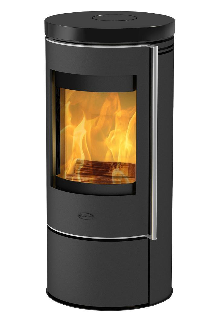 eek a kaminofen fireplace rondale keramik schwarz 5 kw. Black Bedroom Furniture Sets. Home Design Ideas