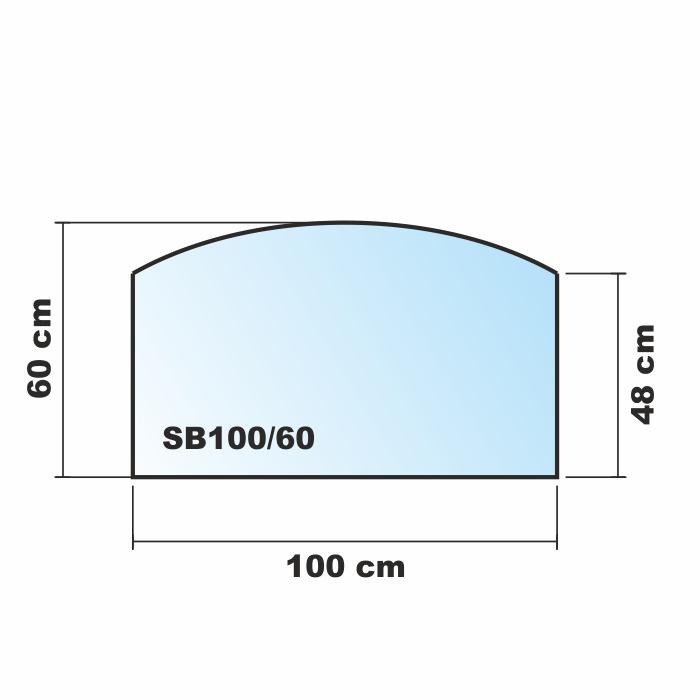 Segmentbogen mit motiv 100x60cm funkenschutzplatte for Glasplatte mit motiv