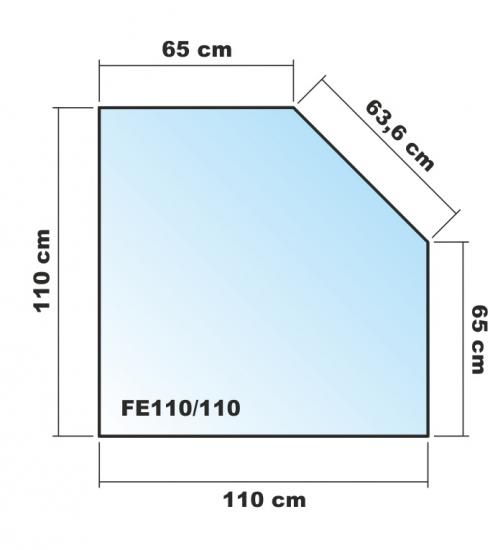 f nfeck 110x110cm glas schwarz funkenschutzplatte. Black Bedroom Furniture Sets. Home Design Ideas
