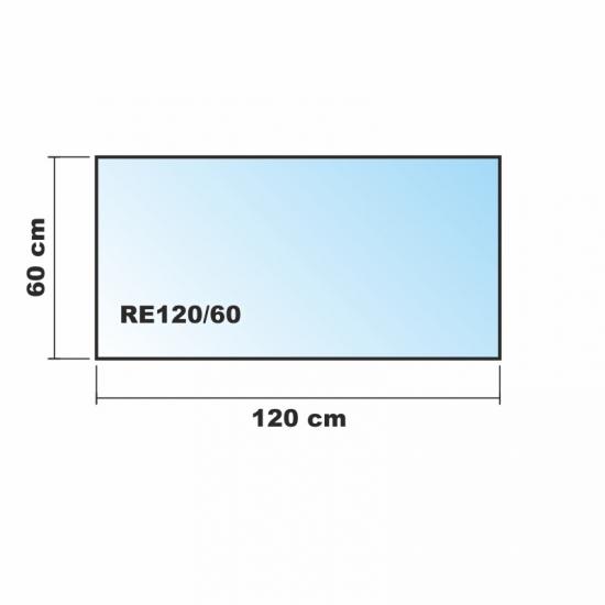Rechteck frosty 120x60cm milchglas funkenschutzplatte for Spritzschutz milchglas