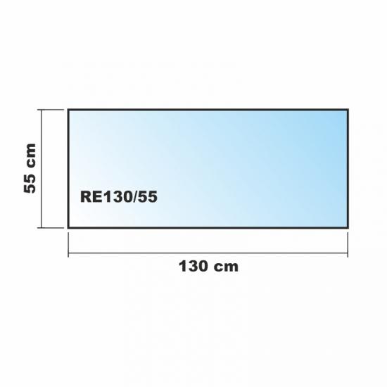 130x55cm glas schwarz glas k chenr ckwand spritzschutz for Glasplatte als spritzschutz