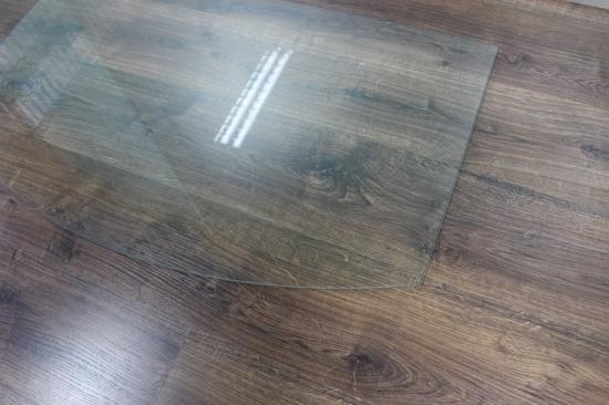 Segmentbogen 100x60cm glas k chenr ckwand spritzschutz for Spritzschutz herd milchglas