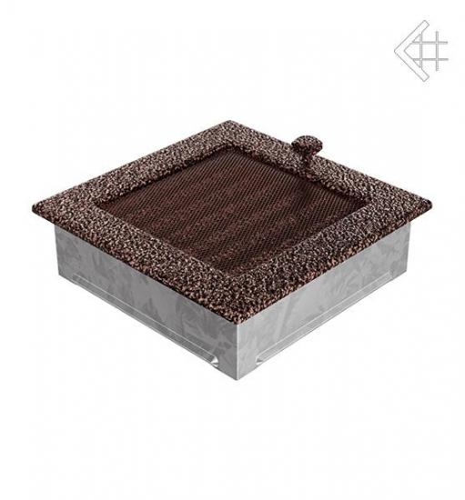 kamin l ftungsgitter 17x17cm schwarz kupfer mit lamellen. Black Bedroom Furniture Sets. Home Design Ideas