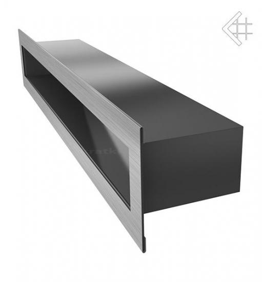 l ftungsgitter luftschlitz offen 6x40cm edelstahl geb rstet. Black Bedroom Furniture Sets. Home Design Ideas