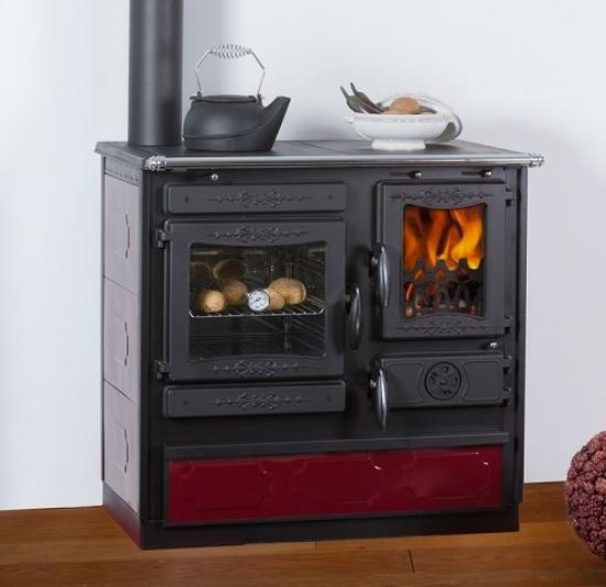 eek a dauerbrand k chenofen holzherd globe fire alhena bordeaux anschluss links. Black Bedroom Furniture Sets. Home Design Ideas