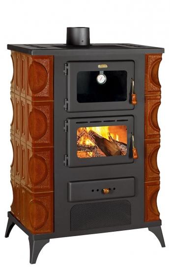 eek a kachel kaminofen mit backfach herdplatte prity fm rk braun 12kw bimschv ii. Black Bedroom Furniture Sets. Home Design Ideas