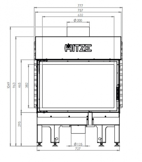 eek a kamineinsatz hitze albero al14s h 14kw. Black Bedroom Furniture Sets. Home Design Ideas