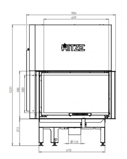 eek a eck kamineinsatz hitze albero al14rg h mit schiebet r seitenglas rechts 14kw. Black Bedroom Furniture Sets. Home Design Ideas